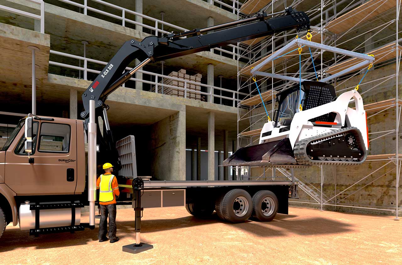 HIAB loader crane X-CLX 328